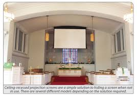 Ceiling Projector Mount Motorized by Five Ways To Hide Your Church U0027s Screen Residential Technology By