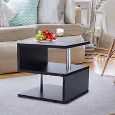 Image Is Loading HOMCOM Coffee End Table Side TV Sofa Stand