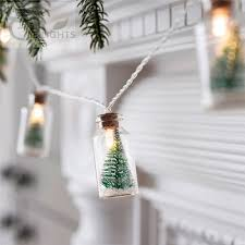 Christmas Tree Glass Jar Bottle String Lights With 20 LED Battery Operated For Wedding Party Fairy