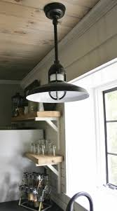 industrial pendants for farmhouse kitchen makeover
