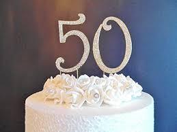 50 kuchen dekoration große 12 cm golden zahlen mit diamant