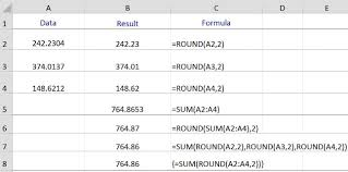Javascript Math Ceiling Function by The Round And Sum Functions In Excel