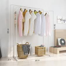 Heavy Duty Commercial Garment Rack Clothing Shelf Storage Organizer