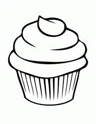 Cupcake clipart black and white 6