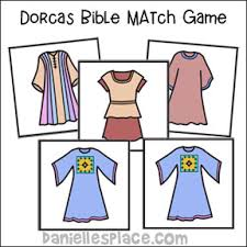 Bible Match Game For Dorcas Lesson