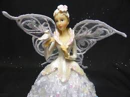 Black Angel Christmas Tree Topper by 23cm Fairy Angel Christmas Tree Topper In White Xmas Tree