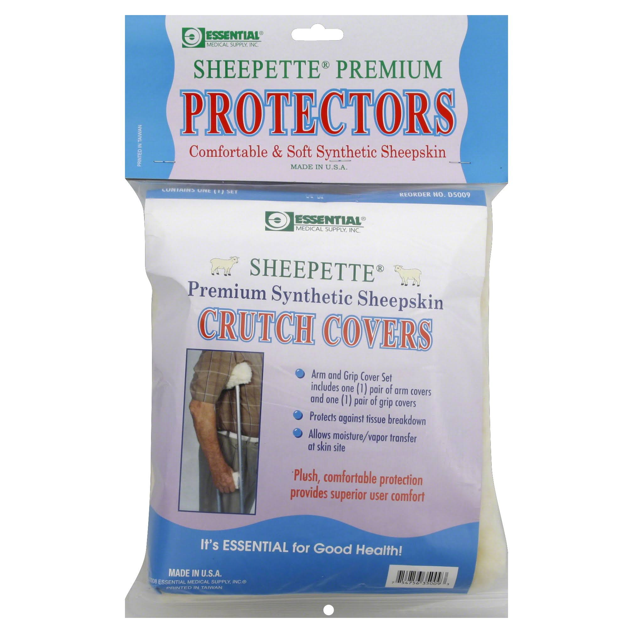 Essential Medical Supply Sheepette Crutch Covers