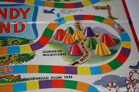 Closeup Of Gameboard Candy Land Board Game By Milton Bradley Circa 1955