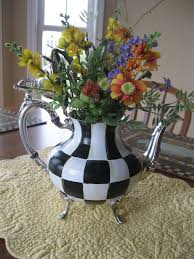 Mackenzie Childs Painted Pumpkins by Pandora U0027s Box Checked Tea Pot Mackenzie Childs Inspired