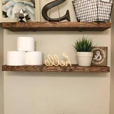 Rustic Wood Shelf Bathroom Shelves New Best Decor Ideas On