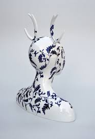 Clovis Christmas Tree Lane by Hybrid Ceramic Sculptures Of Women By Juliette Clovis