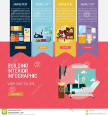 100 Interior Architecture Websites Building Infographic Complex Stock Vector Illustration Of