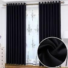 moderne schwarze blackout vorhänge für wohnzimmer küche schlafzimmer hotels vorhänge jalousien cortina quarto 1 2 6 mt 3 2 6 mt angepasst