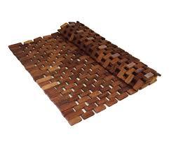 Extra Large Bath Rug Non Slip by Soothing Styles Folding Teak Bath Mat Non Slip Shower Floor Wood