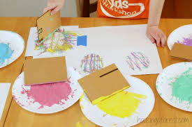 Spring Art Activities For Kids Toddler Easter Egg Crafts Using Recycled Stamps