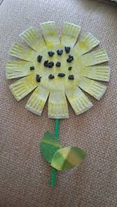 Aab Paperplate Sunflower With Black Crumpled Tissue In The Middle Preschool GardenArt