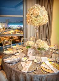 Glamorous White Wedding Centerpieces Tall Romantic With Crystals
