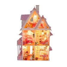 Kids Wood Doll Cottage House Playset W Furniture By Choice Products