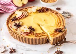 apfel grieß pudding tarte