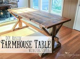 Farmhouse Dining Table Plans With X Legs Best Free Room