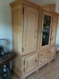 massiv eiche rustikal wohnzimmer schrank hell gelaugt u