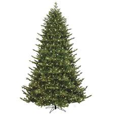 Slim Pre Lit Christmas Trees Canada by Ge 7 5 Ft Just Cut Canadian One Plug Tree Warm White Led