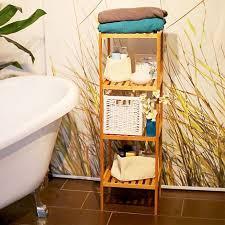 badregal bambus hbt 110 x 33 x 33 cm schickes bambusregal mit 4 ablagen aus natürlichem holz standregal als küchenregal oder holzregal zur