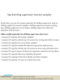 Financial Controller Resume Examples Top 8 Drilling Supervisor Samples 1 638 Cb