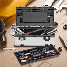 Costway: Costway 18 Inch Tool Box Stainless Steel And Plastic ...