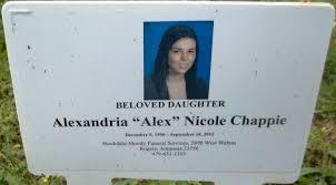 "Alexandria Nicole ""Alex"" Chappie 1996 2012 Find A Grave Memorial"