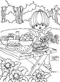 Friend Of Rainbow Brite Preparing Food Coloring Pages