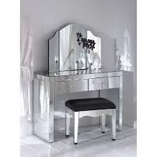 tri fold mirror vanity set livingston 3 piece vanity set with