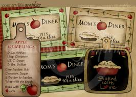Country Kitchen Clip Art Mom