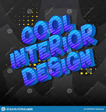 100 Words For Interior Design Cool Comic Book Style Stock Vector