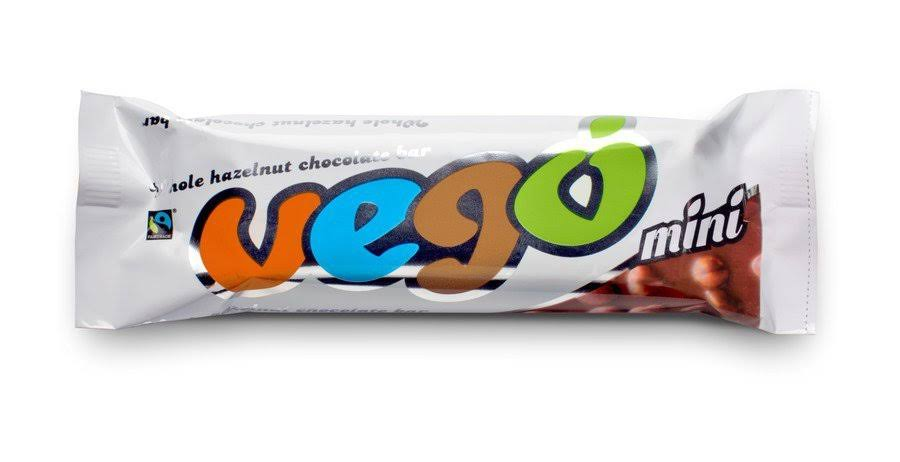Vego Fairtrade Mini Whole Hazelnut Chocolate Bar - 65g