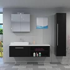 trendbad24 gmbh co kg badmöbel set city 203 v4 esche schwarz badezimmermöbel waschtisch 160 cm 21141 mit 1x 5w led strahler und 1x energiebox