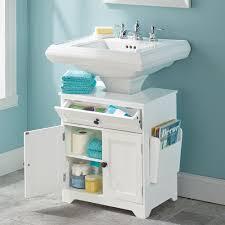 the pedestal sink storage cabinet hammacher schlemmer