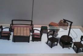 alte puppenstubenmöbel wohnzimmer komplett holz 30er 40er