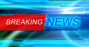 Subscription Library Breaking News Header Blue Background