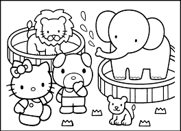 Zoo Coloring Sheets Free Printable Large Size
