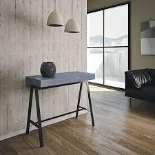 design spielekonsole werkbank aus holz beton l 90 p 40