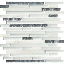 2x8 Subway Tile White by Accent Wall Mosaic Tile Tile The Home Depot