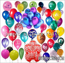 Clipart png for shop Balloons of various colors and shapes
