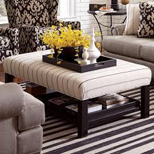 Coffee Tables Round Upholstered Ottoman Coffee Table Ottomans