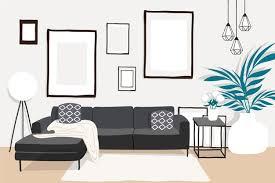 Home Interior Pics Home Interior Hintergrund Videokonferenz Kostenlose Vektor
