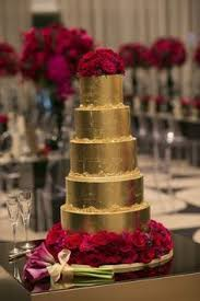 Gold Wedding Cake Is Often Used For The 50th Anniversary Of A