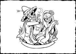 Print Day Of The Dead Coloring Pages