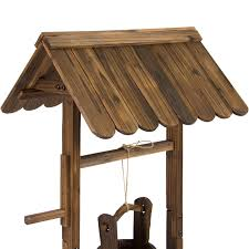 Ebay Home Decorative Items by Wooden Wishing Well Bucket Flower Planter Patio Garden Outdoor