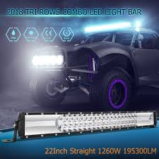 100 Led Truck Light Bar 22 Inch 1260W LED Cree Combo Driving OffRoad 4WD
