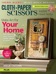 Tea Bag Art Featured In March April 2017 Cloth Paper Scissors Magazine